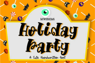 Print on Demand: Holiday Party Display Font By GoodMoodType