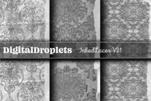 Inked Laces   FREEBIE Graphic Backgrounds By FlyingMonkies