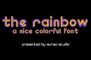 Print on Demand: The Rainbow Color Fonts Font By murisa.studio