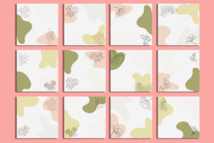 Print on Demand: Social Media Post Template Flower Cute Graphic Web Templates By iop_micro
