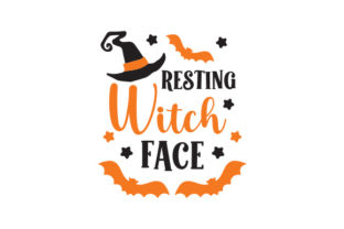 Resting Witch Face Halloween Craft Cut File By Creative Fabrica Crafts