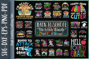 Print on Demand: Fourth Grade Back to School Bundle P2 Graphic Print Templates By Unlimab