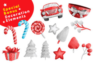 Print on Demand: Gnome Christmas PNG Clipart Bundle Graphic Illustrations By nesdigiart 7