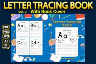Print on Demand: Letter Tracing Workbook with Cover Vol-2 Graphic KDP Interiors By Simran Store 1