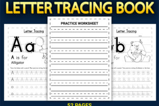 Print on Demand: Letter Tracing Workbook with Cover Vol-2 Graphic KDP Interiors By Simran Store 2