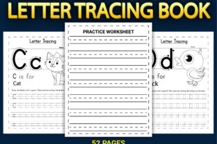 Print on Demand: Letter Tracing Workbook with Cover Vol-2 Graphic KDP Interiors By Simran Store 3