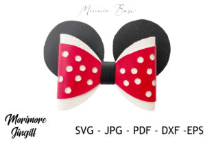 Print on Demand: Mouse Hair Bow Template Graphic 3D SVG By morimorejingiff