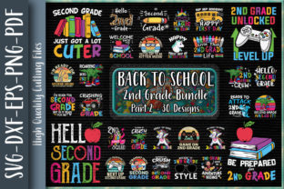 Print on Demand: Second Grade Back to School Bundle P2 Graphic Print Templates By Unlimab