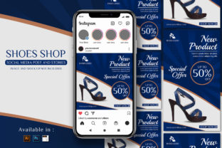 Print on Demand: Women Shoes Promo Social Media Template Graphic UX and UI Kits By EkoZero7