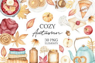 Autumn Watercolor Clipart, Fall Planner Graphic Illustrations By SipkaDesigns 1