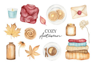 Autumn Watercolor Clipart, Fall Planner Graphic Illustrations By SipkaDesigns 2