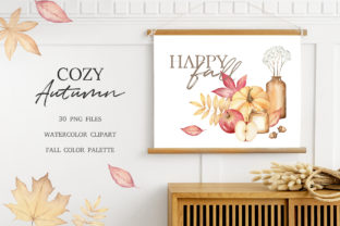 Autumn Watercolor Clipart, Fall Planner Graphic Illustrations By SipkaDesigns 4