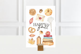 Autumn Watercolor Clipart, Fall Planner Graphic Illustrations By SipkaDesigns 5