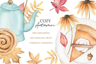 Autumn Watercolor Clipart, Fall Planner Graphic Illustrations By SipkaDesigns 6