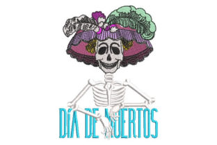 Catrina Skull Day of the Dead Holidays & Celebrations Embroidery Design By Embroiderypacks