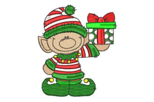 Christmas Elf Christmas Embroidery Design By Embroiderypacks