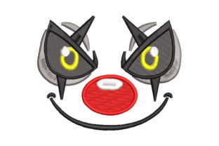 Clown Face Halloween Embroidery Design By Embroiderypacks