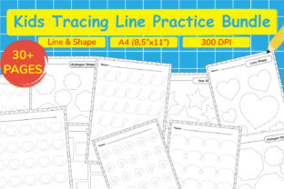 Kids Tracing Line Practice Bundle Graphic Teaching Materials By Kids Zone