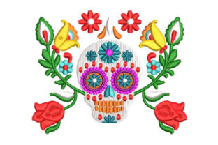 Mexican Skull Catrina Halloween Embroidery Design By Embroiderypacks