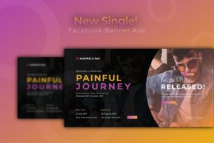 New Single | Facebook Banner Graphic UX and UI Kits By Vunira.Template