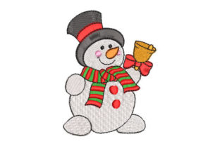 Snowman with Scarf Christmas Embroidery Design By Embroiderypacks