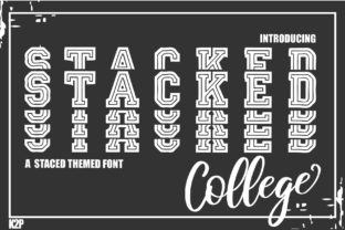 Print on Demand: Stacked College Display Font By KtwoP