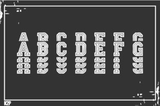 Print on Demand: Stacked College Display Font By KtwoP 2