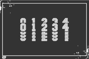 Print on Demand: Stacked College Display Font By KtwoP 6
