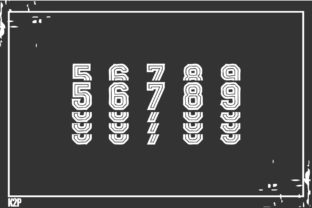 Print on Demand: Stacked College Display Font By KtwoP 7