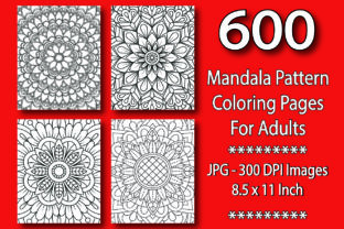 600 Mandala Pattern Coloring Pages (New) Graphic KDP Interiors By eliteasia