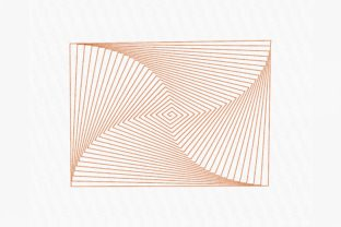 Print on Demand: Abstract Rectangle Spiral Intricate Cuts Embroidery Design By Urtica Design