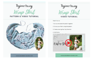 Ballet Wrap Skirt Graphic Sewing Patterns By Beginner Sewing
