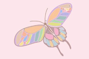 Print on Demand: Colorful November Butterfly Bugs & Insects Embroidery Design By setiyadissi