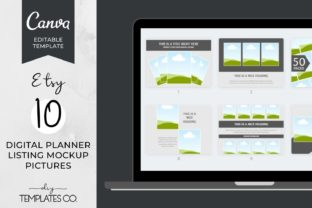 Digital Planner Listing Mockup Graphics Graphic Product Mockups By DIY Templates Co.