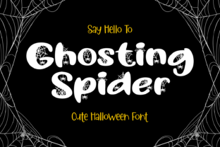 Print on Demand: Ghosting Spider Decorative Font By Dreamink (7ntypes)