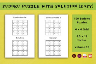 KDP Sudoku Interior Easy Vol 10 Graphic KDP Interiors By Picto Graphy 1