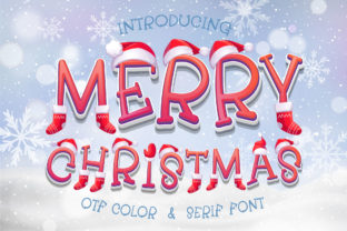 Print on Demand: Merry Christmas Decorative Font By Nobu Collections