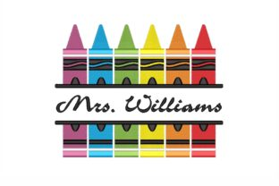 Split Crayons Back to School Embroidery Design By NinoEmbroidery