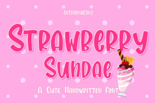 Print on Demand: Strawberry Sundae Display Font By GoodMoodType