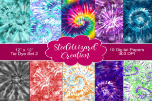 Print on Demand: Tie Dye Digital Paper Pack - Seamless Graphic Backgrounds By Steele Wizard Creation