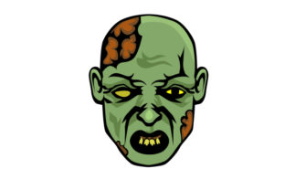 Zombie Face Halloween Craft Cut File By Creative Fabrica Crafts