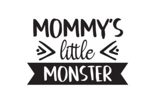 Mommy's Little Monster Halloween Craft Cut File By Creative Fabrica Crafts
