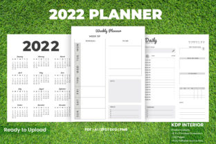 Print on Demand: 2022 Daily Planner Print Ready & KDP Graphic KDP Interiors By Design invention