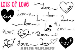 Print on Demand: 40 Handwritten Love Lettering SVG PNG Graphic Illustrations By squeebcreative