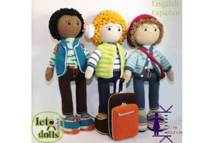 Print on Demand: Bros at Large Crochet Doll Patterns Graphic Crochet Patterns By LetoDolls