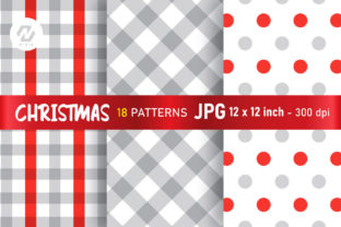 Print on Demand: Christmas Digital Paper Patterns Design Graphic Patterns By nesdigiart 5