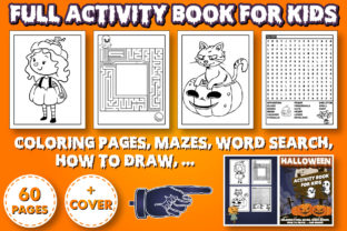 Print on Demand: FULL HALLOWEEN ACTIVITY BOOK for KIDS Graphic Coloring Pages & Books Kids By KDP INTERIOR DESIGN 1