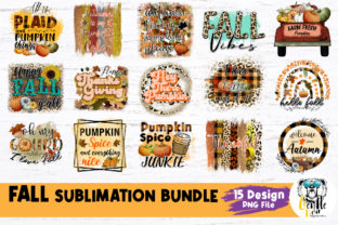 Print on Demand: Fall Sublimation Bundle Graphic Crafts By Gentlebear