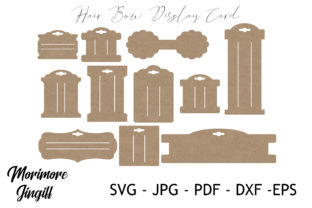 Print on Demand: Hair Bow Displlay Card Template SVG Graphic Crafts By morimorejingiff
