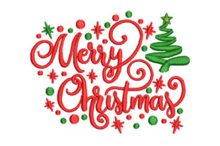 Merry Christmas Christmas Embroidery Design By Embroiderypacks